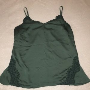 Banana Republic Green Lace camisole size M
